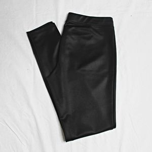 Express Leather Leggings - Black